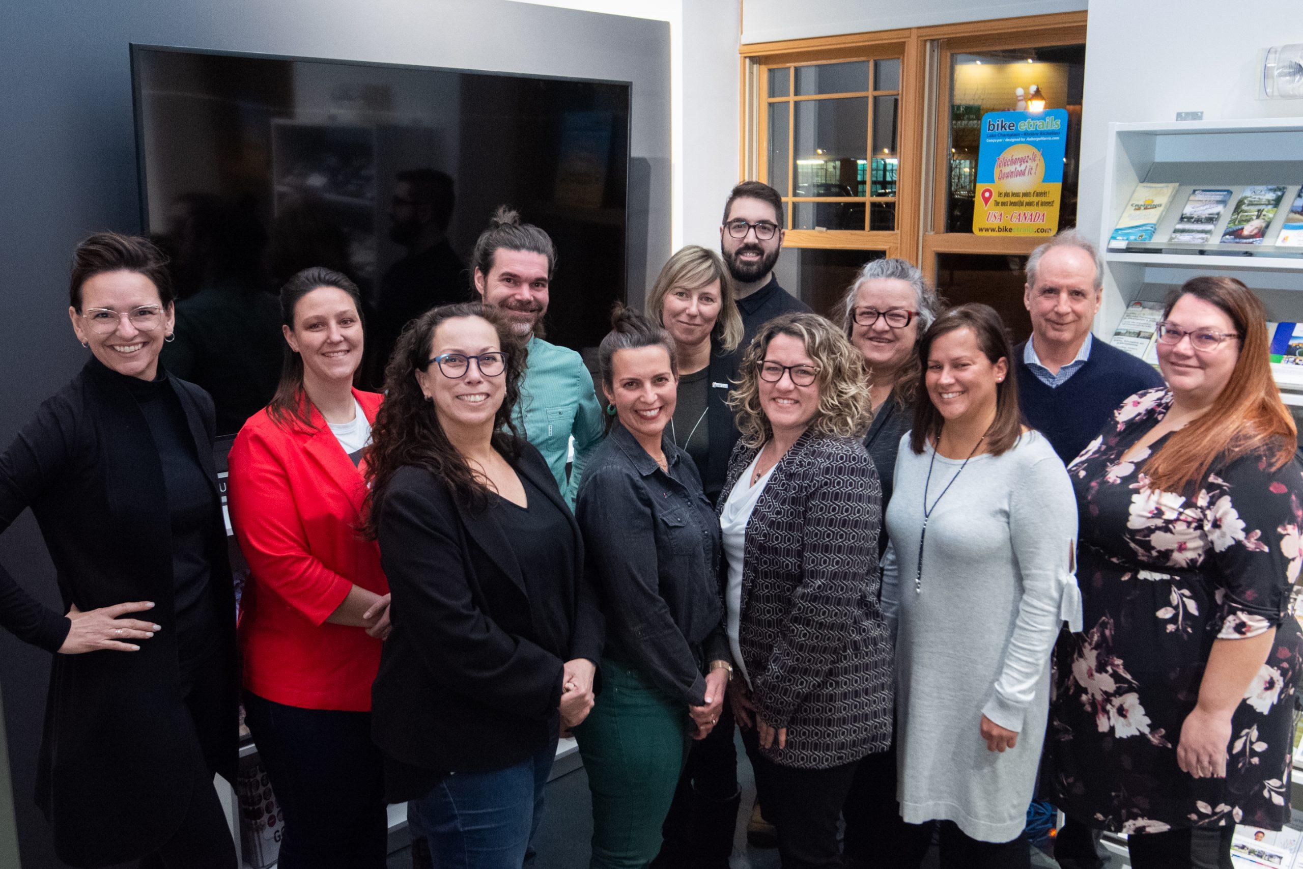 L'équipe d'administrateur de la Société de développement Vieux-Saint-Jean 2020-2021